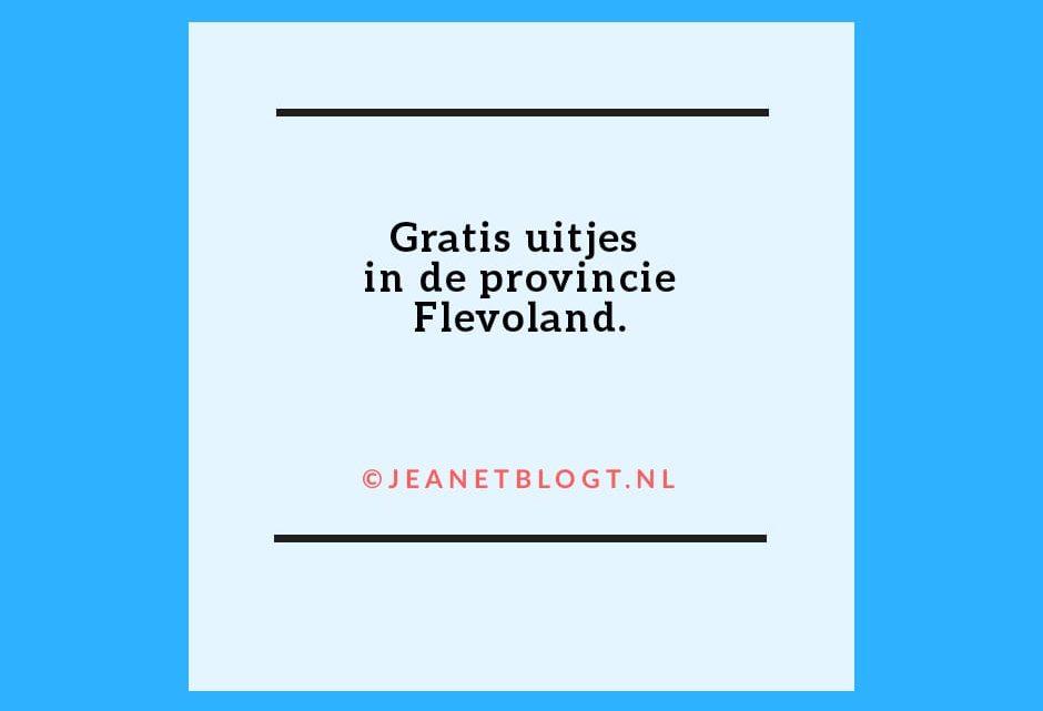 Gratis uitjes in de provincie Flevoland.
