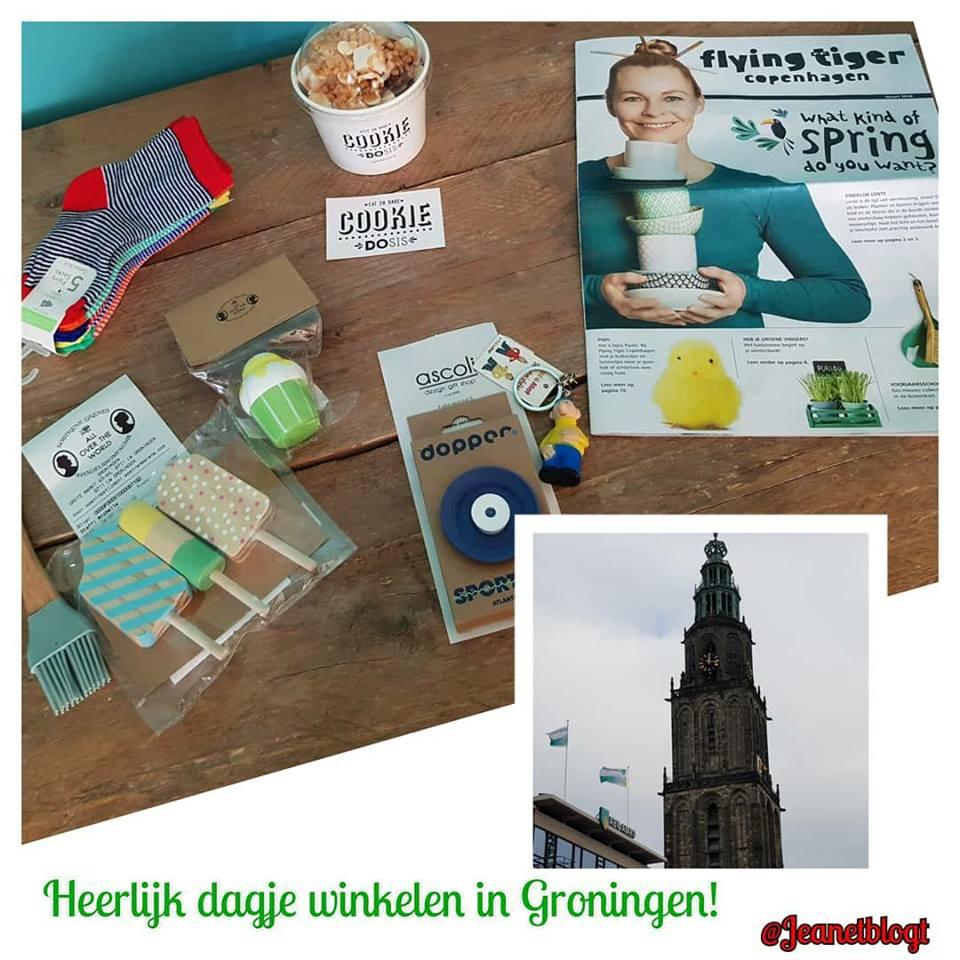 Winkelen in Groningen.
