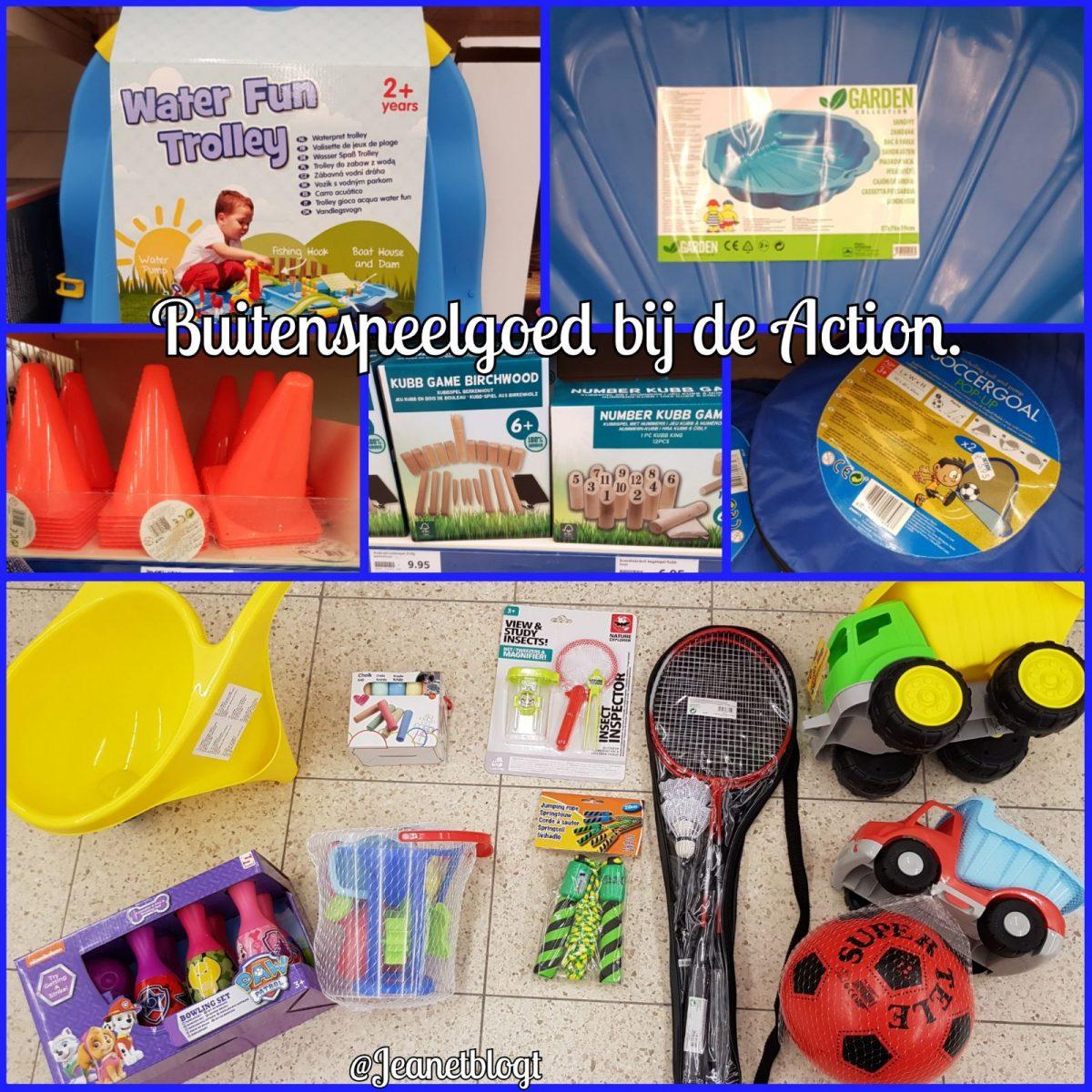Buitenspeelgoed bij de Action