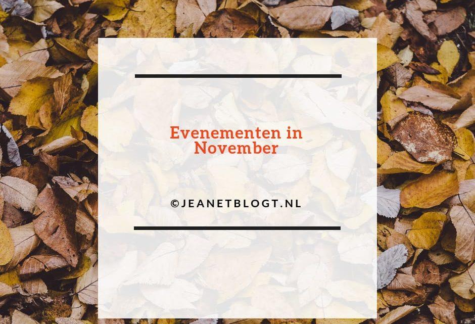 Evenementen die in de maand November worden georganiseerd.