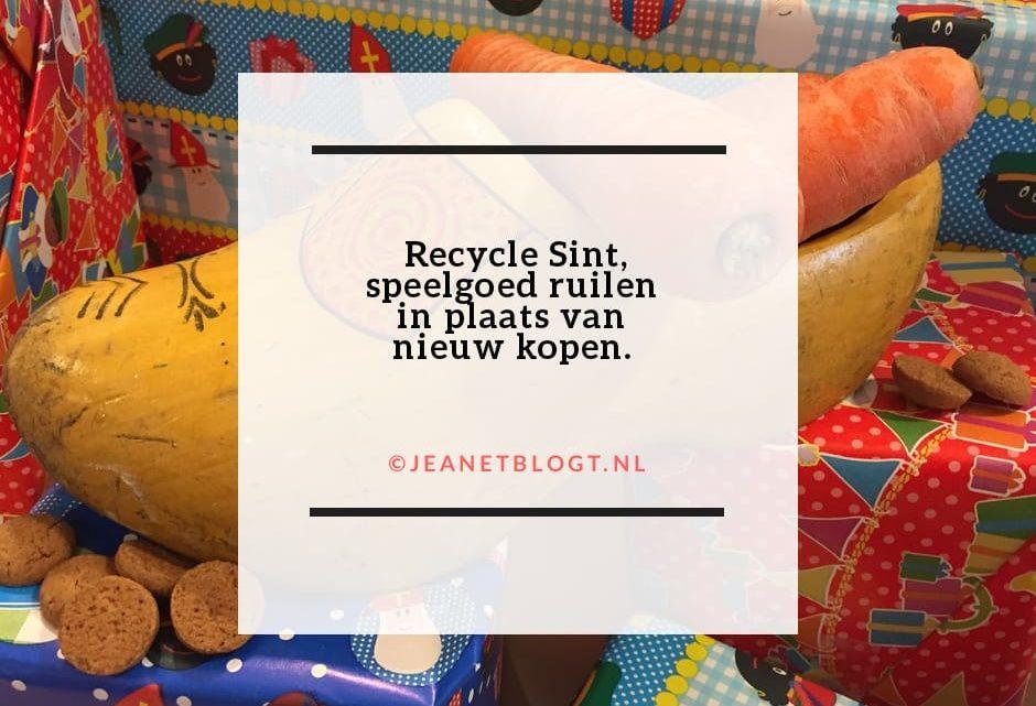 Recycle Sint, speelgoed ruilen in plaats van nieuw kopen.