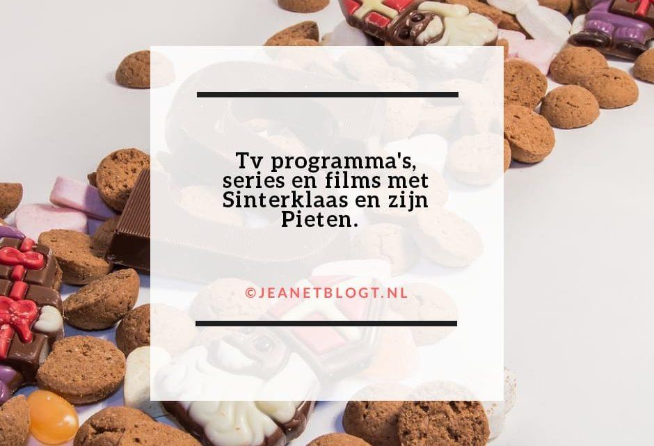 Tv programma's, series en films met Sinterklaas en zijn Pieten.