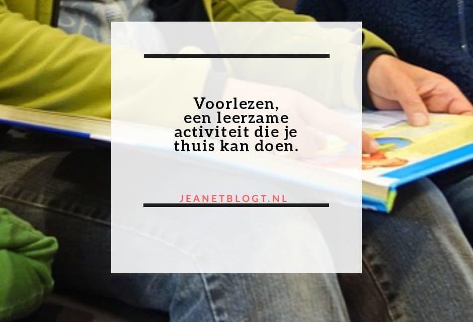 Voorlezen, een leerzame activiteit die je thuis kan doen.