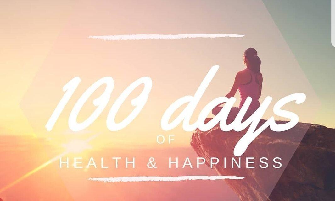 100 days of health en hapiness.