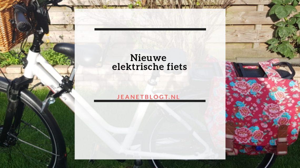 Nieuwe elektrische fiets.